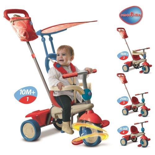 Smart Trike 670-0400 - kinderdriewieler - vanilla, blauw/rood