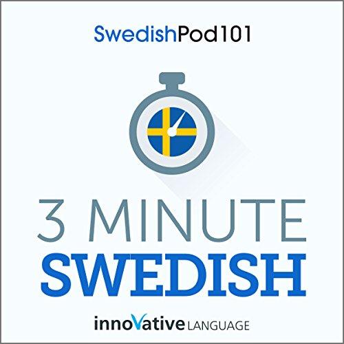 3-Minute Swedish - 25 Lesson Series Audiobook cover art