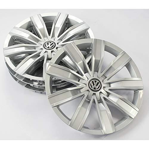 Volkswagen 5NA071457A wieldoppen (4 stuks) wieldoppen 17 inch wieldoppen stalen velgen, briljant zilver