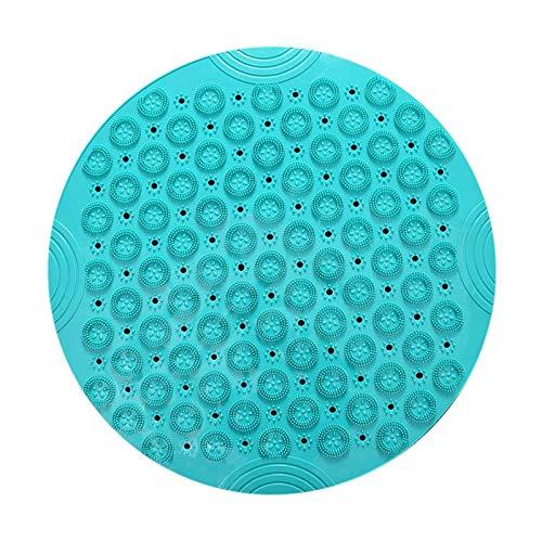 YuuHeeER Alfombrilla de ducha redonda de baño antideslizante de PVC lavable para masaje