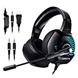Casque Gaming, ONIKUMA Casque Ps4 avec Microphone Anti Bruit 4D Son Surround 7.1...