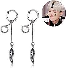 Mshion Bangtan Boys Album BTS Jimin Stud Clip Earring for Men Women