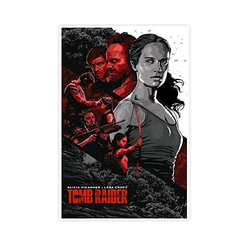 Tomb Raider Movie 2 Póster decorativo de lienzo para pared, para sala de estar, dormitorio, 30 x 45 cm, estilo Unframe-1