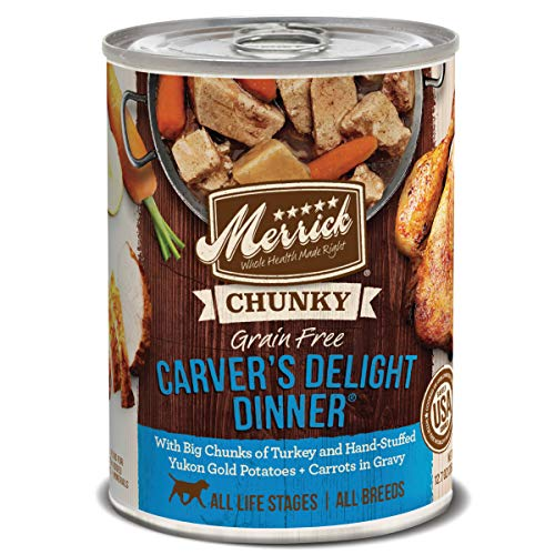 Merrick Grain Free Chunky Carvers Delight Dinner Canned Dog Food (12x12.7 oz)