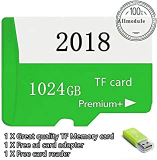 FidgetKute 2018 New 1TB Micro Memory Card Storage 1024GB for 1TB Micro SD Card Slot (Green) Green 1024GB