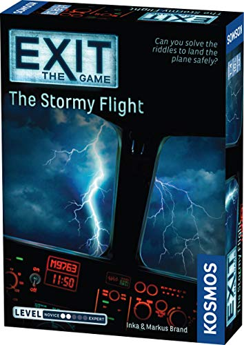 EXIT: The Stormy Flight | Escape Room Game in a Box| EXIT: The Game – A Kosmos Game | Family – Friendly, Card-Based at-Home Escape Room Experience for 1 to 4 Players, Ages 12+