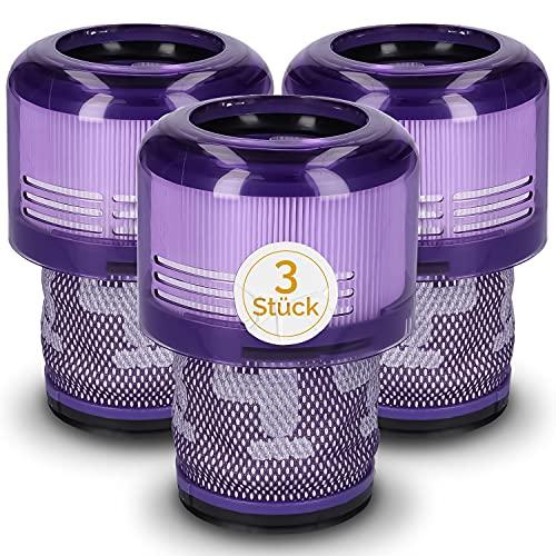 Juego de 3 filtros para aspiradora Dyson 970013-02, filtro de repuesto para Dyson V11, filtro Hepa, accesorio de filtro, unidad de filtro para aspiradora con mango lavable