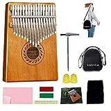 Kalimba - Piano para pulgar de 17 teclas, de caoba de alta calidad con kit de estudio y bolsa...