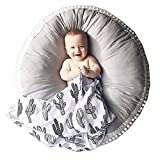 Juego del bebé Mat Sala de rastreo Nursery niños redondo de la decoración alfombra de la manta hacia abajo algodón for el bebé juega las esteras del piso Portátil niño de los cabritos al aire libre o