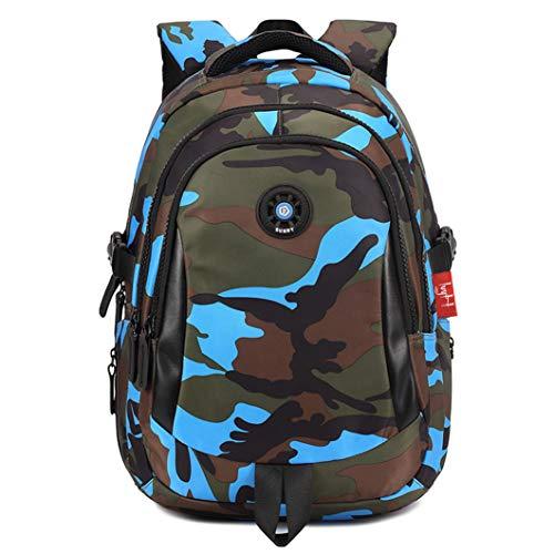Zaino per Ragazzi impermeabile Schoolbag Camuffamento Studente Zaino con spalla Borsa grande capienza casuale viaggiare GudeHome