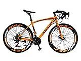 Helliot Bikes Sport 03, Bici da Strada Urbana Unisex Adult, Arancione, M-L