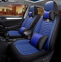 カーシートは、アウディA3 / A4 / A5 / A6 / A8 / Q3 / Q5 / RS4用ユニバーサルカーシートカバーフルセット防水PUレザーカーシートクッション保護をカバー,ブルー