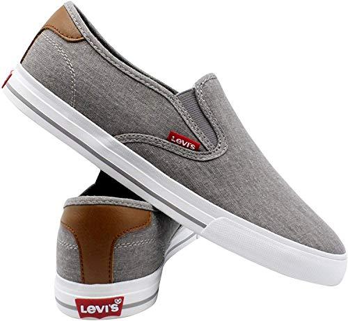 Levi's Mens Seaside CT Slip ON Sneaker,Charcoal,9.5