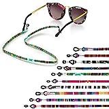 BEIFON 10Pcs Cordones para Gafas Correa Cuerda Gafas de Sol Étnico Cadena de Gafas Lectura Retenedor Estampado Étnico de Gafas Mujer Hombre Niños Accesorios para Gafas Universales