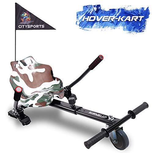 GeekMe Hoverkart, Self Balance Scooter Zubehör, Hoverkart, passend für alle Segway-Größen, Geschenk für Kinder-KT CS (Armee)