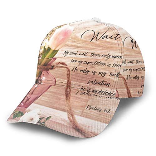 NR Vintage Bauernhaus Chic Floral Psalm Bibel Vers Unisex 3D Druck Baseball Cap Verstellbare Snapback Caps Trucker Hüte Sport Hut für Männer Frauen