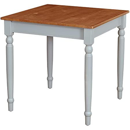 """Amazon Brand – Ravenna Home Traditional Dining Table 29""""H, Gray and Rustic Honey Pine"""
