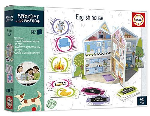Educa- Aprender es Divertido: English House: Aprende inglés Juego Educativo para niños, a Partir de 5 años (18705)