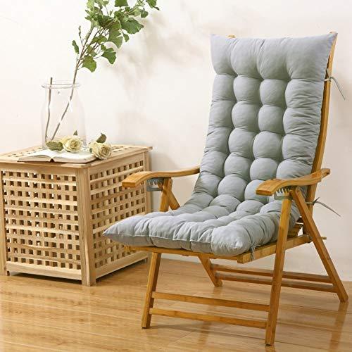 GECOKU Schaukelstuhlkissen, Lounge Chairkissen Verdicken Verlängern Klappstuhlauflagen Terrassenmöbel Überfüllte Sitzbankkissen-grau 48x125cm (19x49inch)