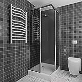 Revêtement mural pour douche et salle de bains | 200 x 100 cm | gris foncé | panneaux muraux pour la salle de bain et la douche