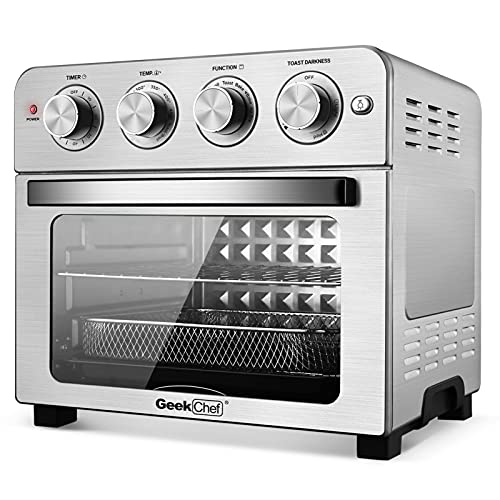 Geek Chef Air Fryer Toaster Oven, 6 Slice 24QT Convection Airfryer Countertop Oven, Roast, Bake,...