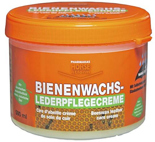 HORSE fitform Bienenwachs Lederpflegecreme, Nano, Lederpflege Leder Pflegecreme, 500 ml