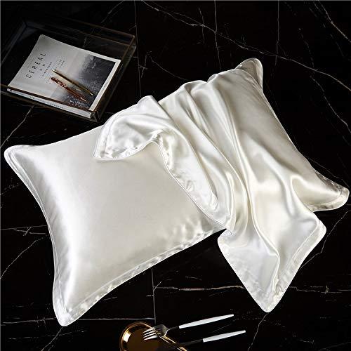 DCGSADFW 100% zijde kussensloop van zijde met aminozuren op de huid en voedt fijne lijntjes. Comfortabele slaap DCGSADFW. Wit