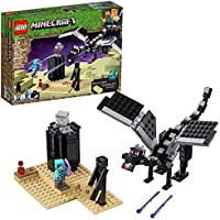 LEGO Minecraft The End Battle 21151 Ender Dragon Building Kit includes Dragon Slayer and Enderman Toy Figures for Dragon...