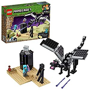 LEGO Minecraft The End Battle 21151 Ender Dragon Building Kit includes Dragon Slayer and Enderman Toy Figures for Dragon… - 51OSJhpSI L - LEGO Minecraft The End Battle 21151 Ender Dragon Building Kit includes Dragon Slayer and Enderman Toy Figures for Dragon…