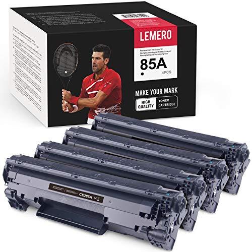 LEMERO Compatibile HP 85A CE285A Cartucce di Toner per HP Laserjet P1102W M1212NF MFP M1132 M1210 M1130 M1217NFW,4xNero
