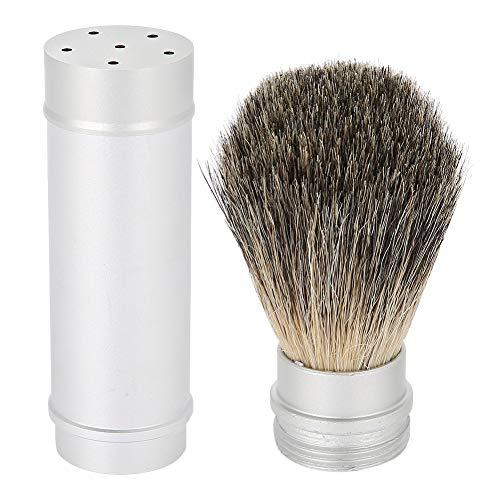 Rasierpinsel, Premium Borstenhaar Aluminiumgriff shaving brush Luxus Herren Geschenk männer Rasierbart Leicht und tragbar hautschonende und gründliche Rasur