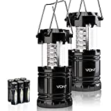 Vont 2 Pack LED Camping Lantern, Super Bright Portable Survival Lanterns, Must Have During Hurricane, Emergency, Storms, Outages,...
