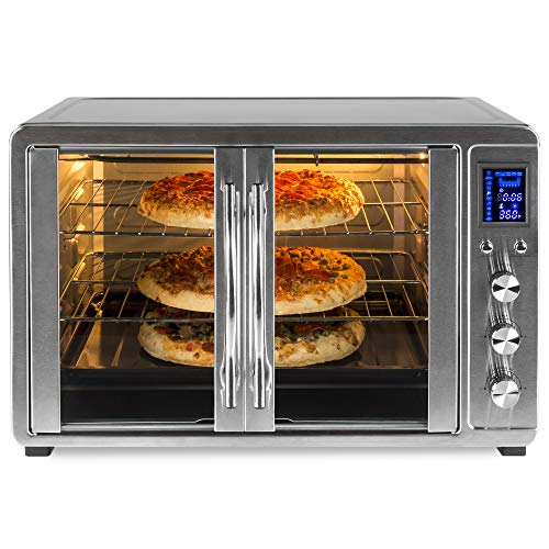Best Choice Products 55L 1800W Extra Large Countertop Turbo Convection Toaster Oven w/French Doors, Digital Display