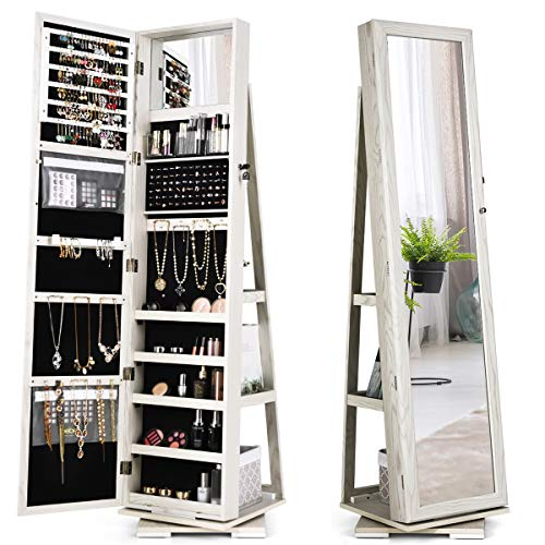360 Swivel Jewelry Cabinet & Full Length Mirror