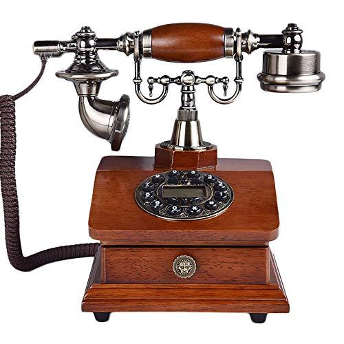 MEETGG Teléfono antiguo multifuncional con cajón, excelente protección del medio ambiente, se aplica a la oficina en casa, escritorio de la vendimia fijos fijos artesanías