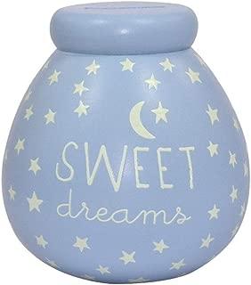 Pot Of Dreams Ceramic Money Box Baby Boy Glow In The Dark 50836 - Break To Open Blue