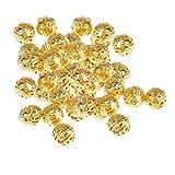D DOLITY 100 Stücke Gold Hohl Spacer Perlen Charms Beads Blumen Perlenkappen Metallperlen Dekoperlen Bastelperlen