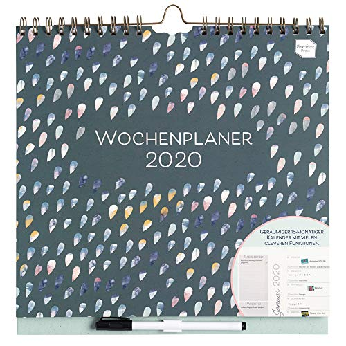 Boxclever Press Wochenplaner 2020. Geräumiger Kalender 2020 mit viel Platz, Einkaufslisten, Dokumententasche, u. v. m. Kalender 2020 Wandkalender ab sofort nutzbar bis Dezember 2020