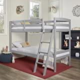 Dream On Me Logan Twin Over Twin Bunk Bed, Grey (709-G)