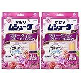 【まとめ買い】 かおりムシューダ 1年間有効 防虫剤 ウォークインクローゼット専用 3個入 やわらかフローラルの香り×2個
