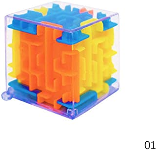 WXLAA 3D Three Dimensional Magic Maze Cube Piggy Bank Puzzle Early Education Toy Fun Puzzle Game S-4cm