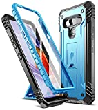 Poetic Revolution Series for LG Stylo 6 Case, Full-Body Rugged Dual-Layer Shockproof Protective Cover with Kickstand and Built-in-Screen Protector, Blue
