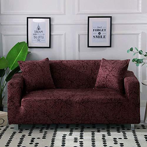 WXQY Funda de sofá elástica con Estampado Floral de Hojas para Sala de Estar, Protector de sofá, Funda de sillón, Funda de sofá de decoración del hogar A17 de 2 plazas