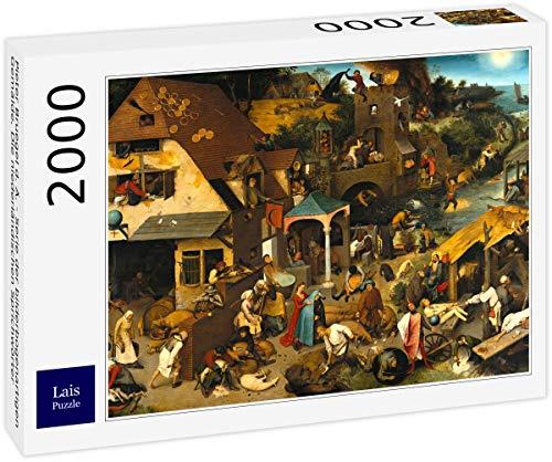 Lais Puzzle Pieter Bruegel el Viejo - Serie de Pinturas en Forma de Arco, Los Proverbios Holandeses 2000 Piezas