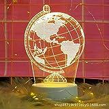 Licht Dekoration 3D nachtlicht mädchen Herz Schlafzimmer Student Geschenk kreative kleine tischlampe globus knopfschalter (monochrom)