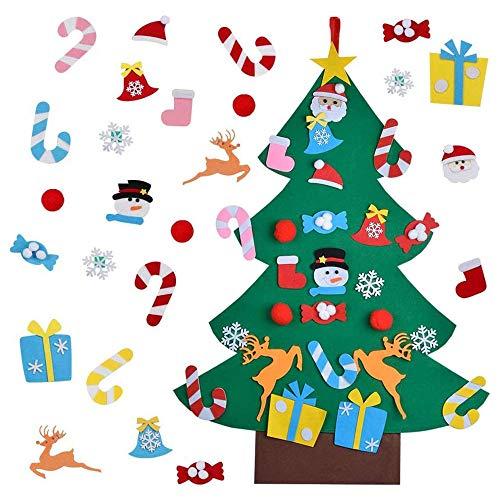 JLD Feltro Albero Natale,Albero di Natale in Feltro per...
