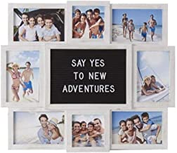 product image for flag connections Customizable Letter Board with 8-Opening Photo Collage, 19-Inch-by-17-Inch, White