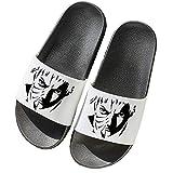 VICTORDOMO Zapatillas de Verano para Niños Niñas Antideslizante Ducha Chanclas de Baño Cosplay de Anime para Naruto Uchiha Obito Zapatos Pantuflas de Casa Mujeres Hombres Playa Piscina,Blanco,45/46EU