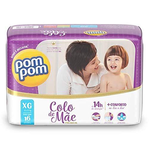 Fralda PomPom Colo de Mãe, XG, Jumbo, pacote de 16