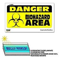 Danger バイオハザードエリア - 12×6で - ラミネート符号ウィンドウビジネスステッカー